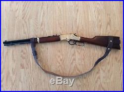 1 Leather NO DRILL Rifle Sling For Rossi Ranch Hand Rifles. Brown Leather