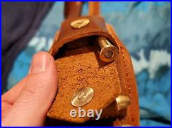 1 Set Rifle Buttstock + Matched Gun Cartridges Sling Strap + Swivels -Leather