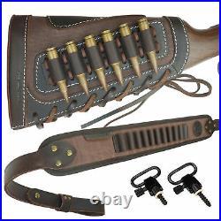 1 Set Rifle Buttstock With Sling Gun Cartridges Ammo Holder For 30-30 22lr 12GA