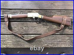 1 Wide NO DRILL Rifle Sling For Henry Rifles. Brown Leather