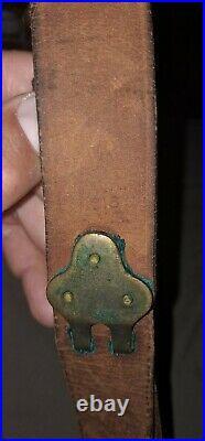 1918 HHB WW1 M1907 Hunter Leather Rifle Sling Springfield 1903