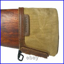 1set Leather Canvas Gun Buttstock Extension Rifle Recoil pad and Gun Sling Strap