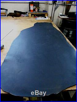 5/6 oz Black Veg Tan Water Buffalo Strap Pouch Holster Leather Bend 12-13.5sq ft