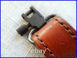 AA&E LEATHERCRAFT TOP GRAIN COWHIDE #1007 PADDED RIFLE SLING With QD SWIVELS