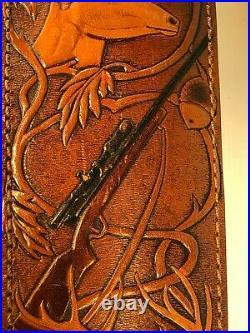 AA&E Leathercraft Model 1017 Rifle Sling 100% Top Grain Cowhide-GREAT BUY-IN5029