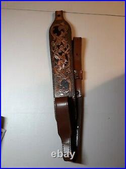 AA&E Leathercraft Vintage Buck Scene Rifle/Shotgun Gun Sling Padded #3065