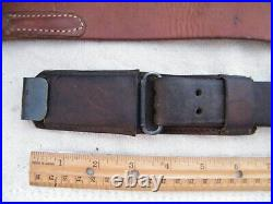 Al Freeland Target Rifle Shooting Cuff & Short Sling, quick clips, SOFT LEATHER