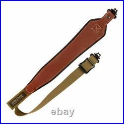 Allen Baktrak Sling Adjustable Brown Leather For Rifle / shotgun 8391