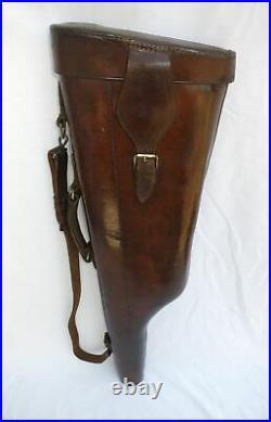 Antique Leather Leg O Mutton Gun Case