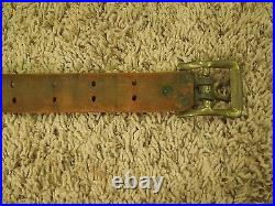 Antique Lot of 2 Leather Rifle Straps Slings Adjustable Military Collectibles