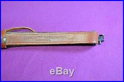 Beautiful Leather Rifle Sling Bianchi #77 Cobra Grande Tooled Leather Pat. Pend