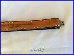 Bianchi #73'Cobra Grande' Basket Weave Sheep Fleece Lined Leather Rifle Sling
