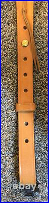 Bianchi Cobra Leather Rifle Sling With Swivels #70 Mint Vintage