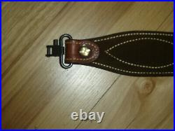 Bianchi Cobra Sling Leather/Suede Lined Adjustable Leather with Swivels