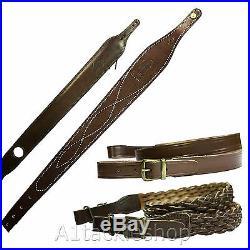 Bisley Genuine Leather Rifle Sling Choose Model