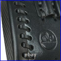 Black 1 Set Real Leather Rifle Buttstock Gun Shoulder Sling Strap USA Delivery