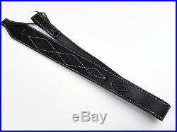 Black Leather Rifle Sling Australian Made Brand New