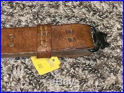 Boyt 1-1/4 Leather Military Style Rifle Gun Sling