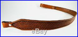 Brand New Handmade Hand Tooled Leather Rifle Sling Shoulder Strap