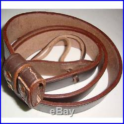 British WWI & WWII Lee Enfield SMLE Leather Rifle Sling 5 Units RE80694