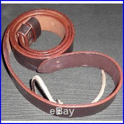 British WWI & WWII Lee Enfield SMLE Leather Rifle Sling 5 Units kB94444