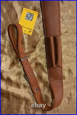 Brown Leather Padded Cobra Rifle Sling with non-slip back & Bullet Pouches