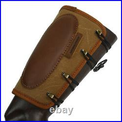 Brown Leather Rifle Buttstock with Gun Sling For. 30-30, 308 30-06 Shell Holder