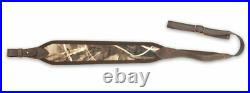 Camo Rifle Sling, Gun, Shotgun Strap Belt Camouflage Velour Leather Hunting