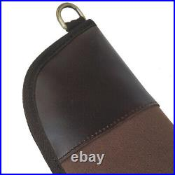 Canvas and Leather Rifle Soft Cases Gun Scoped Sling Bag Safe Carry Storage