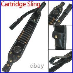 Classic Cow Hide Leather Gun Recoil Pad Handmade Rifle Gun Ammo Sling USA Local