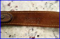 Cobra Gunskin Leather Sling 1970's Remington 700 Winchester Pre 64 70 With Swivels