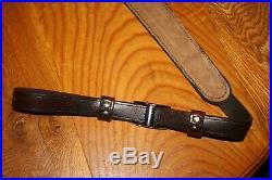 Custom THICK Leather Adjustable rifle/shotgun/universal sling-USA MADE