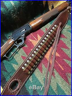 leather rifle sling » Custom leather sling and wrap combo
