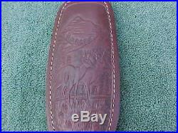 Deer Scene Padded Shoulder Leather Sling with Swivels Free S&H USA