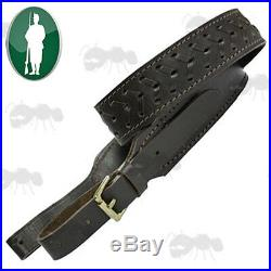 Detailed Leather Gun Rifle Game Shooting Sling With Neoprene Lining By Bisley
