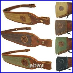Easy Installnation Canvas Leather Recoil Pad Buttstock and Matching Gun Sling