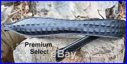 Embossed Gator Rifle Sling/Black, Choice of 3 Traditional, Dbl Scute, Premium