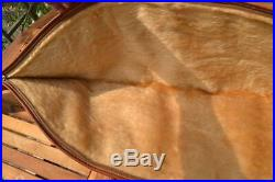 Fine leather Rifle Case sling Fur lined zipped with carry handles 50 x 11
