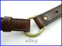 G. William Davis & Son Padded Leather Rifle Sling D Metal Monogram (#6099)