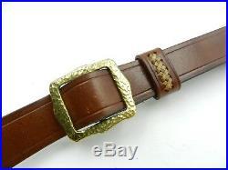 G. William Davis & Son Padded Leather Rifle Sling M Metal Monogram (#6100)