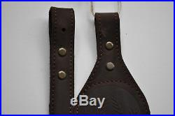 Genuine Leather Rifle Shotgun sling decorated with Roe anti slip suede
