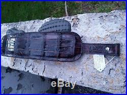 Genuine Wild Alligator leather Rifle shotgun Shoulder Sling Strap gator DC