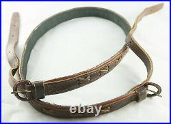 German Vintage Hunting Lined Leather Braided Sling HIGH Quality