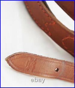 German Vintage Hunting Suede Lined Leather Sling Luxury AKAH
