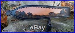 Hand Tooled Black Bear Design Rifle Sling