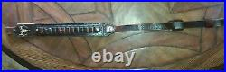 Hand crafted leather gun sling with ammo holder, made in the u. S. A