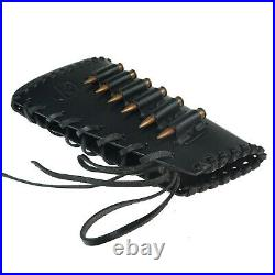 Handmade Leather Rifle Buttstock Cover with Gun Sling Ammo Shell Holder US LOCOL