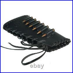 Handmade Leather Rifle Buttstock Shell Holder with Match Gun Sling, USA Seller
