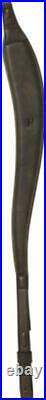 Harkila Rifle Sling In Leather Dark Brown Ergonomic Shape