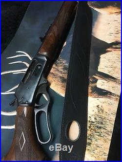 High quality leather stock cuff and sling combo for a Marlin 1895 45-70